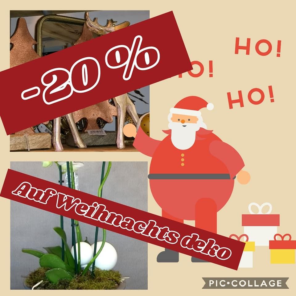 Weihnachtsaktion: 20% Rabatt auf Weihnachtsdeko